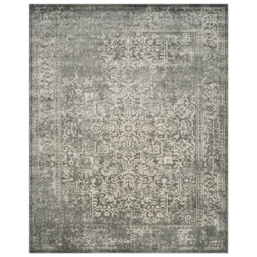 Safavieh Evoke Isla Silver/Ivory Rectangular Indoor Machine-Made Oriental Area Rug (Common: 8 x 10; Actual: 8-ft W x 10-ft L)