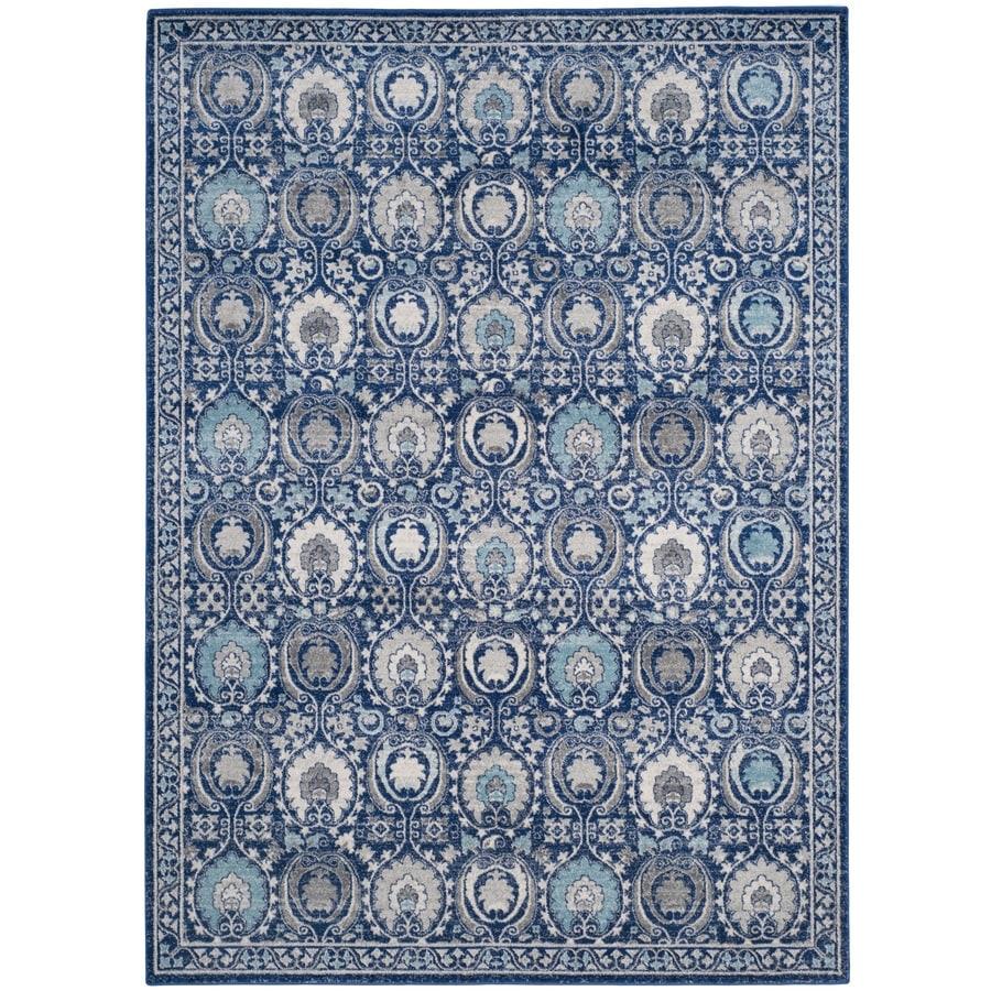 Safavieh Evoke Malaga Blue/Ivory Indoor Oriental Area Rug (Common: 7 x 9; Actual: 6.7-ft W x 9-ft L)