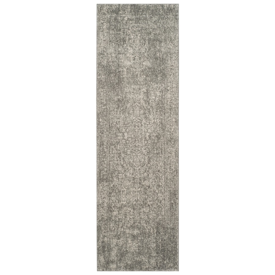 Safavieh Evoke Isla Silver/Ivory Indoor Oriental Runner (Common: 2 x 7; Actual: 2.2-ft W x 7-ft L)