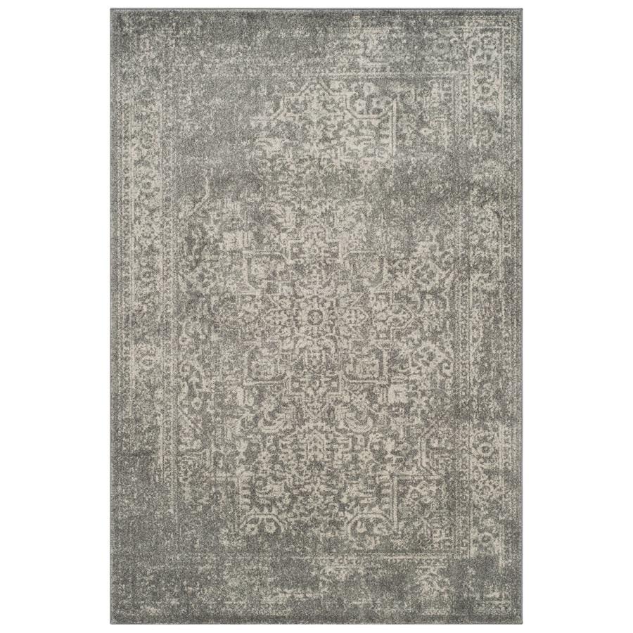 Safavieh Evoke Isla Silver/Ivory Indoor Oriental Area Rug (Common: 4 x 6; Actual: 4-ft W x 6-ft L)