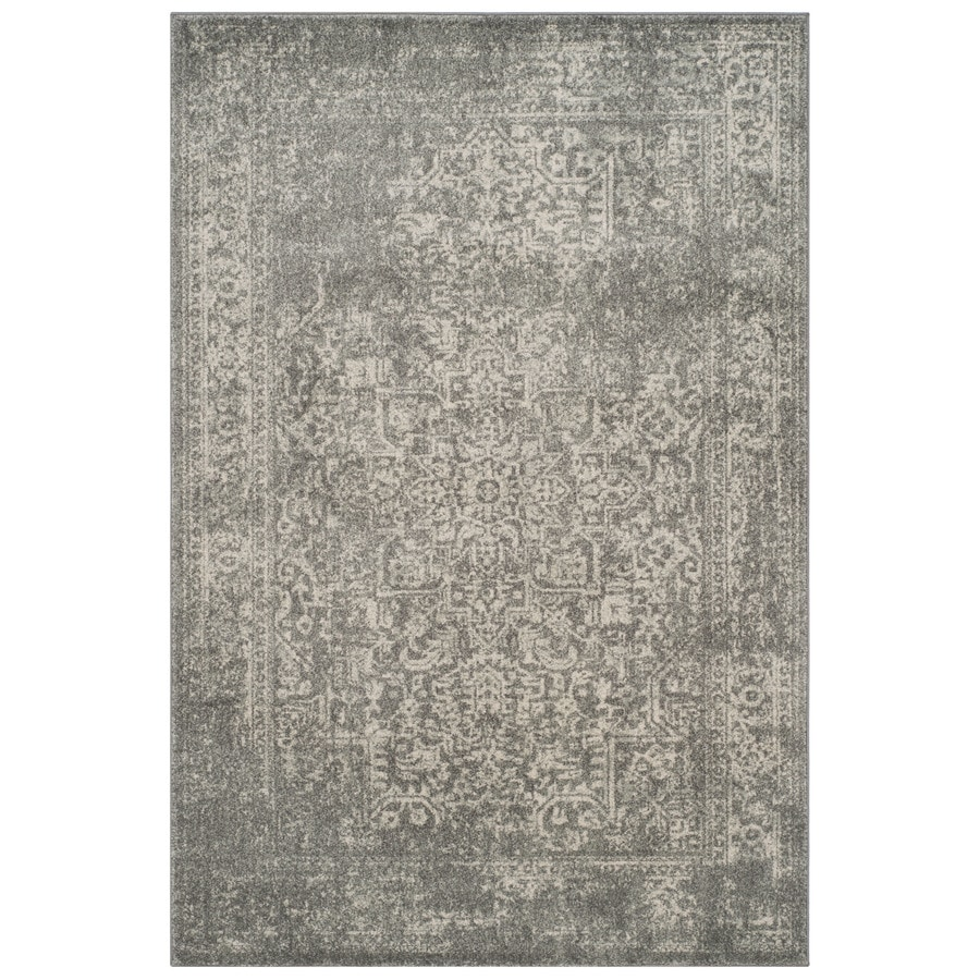 Safavieh Evoke Isla Silver/Ivory Indoor Oriental Area Rug (Common: 5 x 8; Actual: 5.1-ft W x 7.5-ft L)