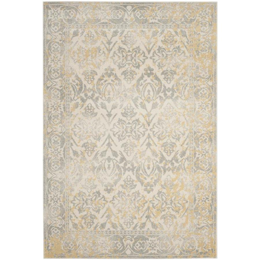 Safavieh Evoke Karki Ivory/Gray Rectangular Indoor Machine-Made Oriental Area Rug (Common: 5 x 7; Actual: 5.1-ft W x 7.5-ft L)
