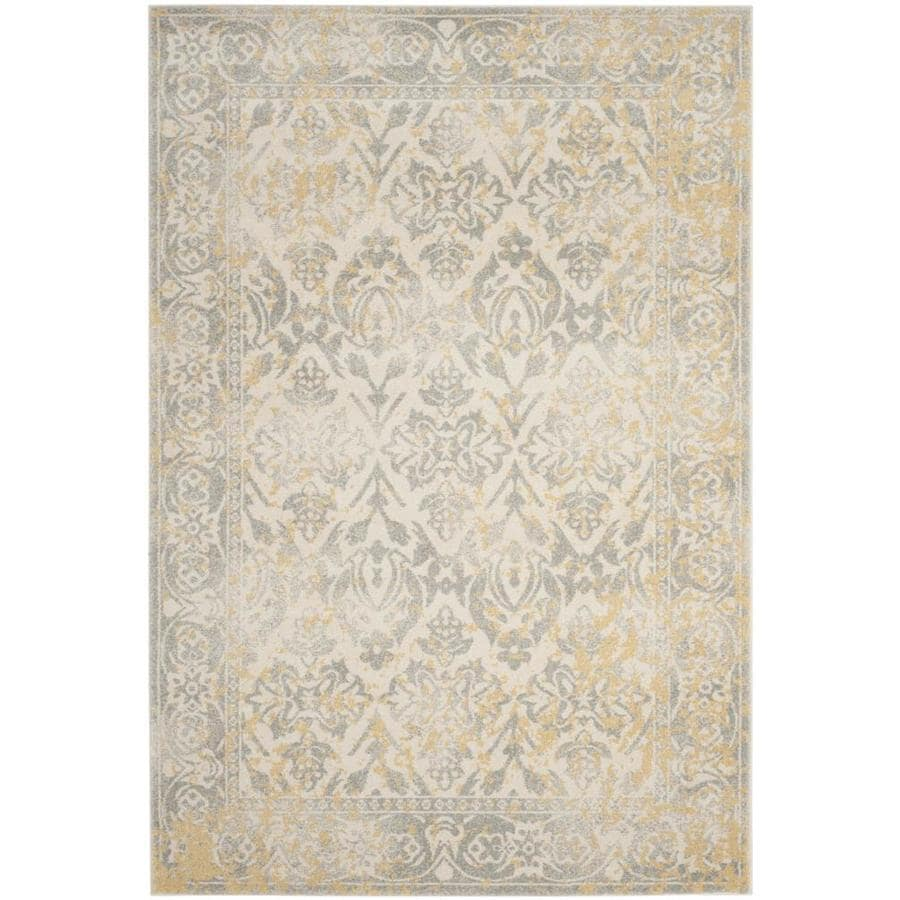 Safavieh Evoke Karki Ivory/Gray Rectangular Indoor Machine-Made Oriental Area Rug (Common: 6 x 9; Actual: 6.6-ft W x 9-ft L)