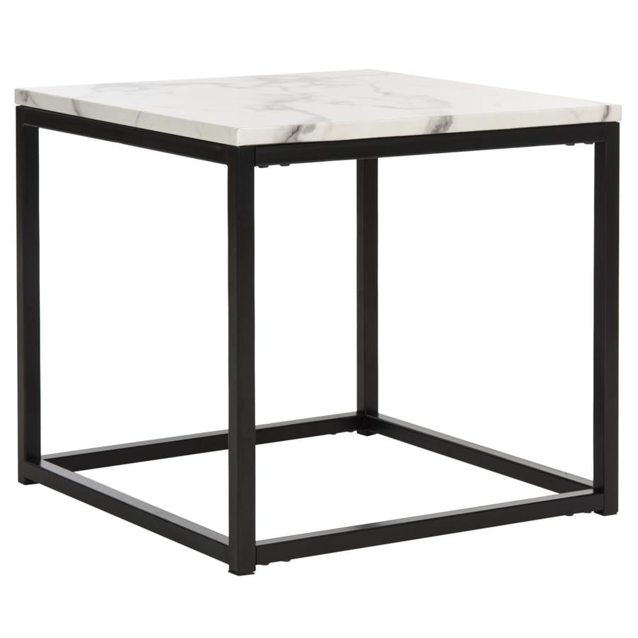 Safavieh Baize White Gray Faux Marble End Table In The End Tables Department At Lowes Com