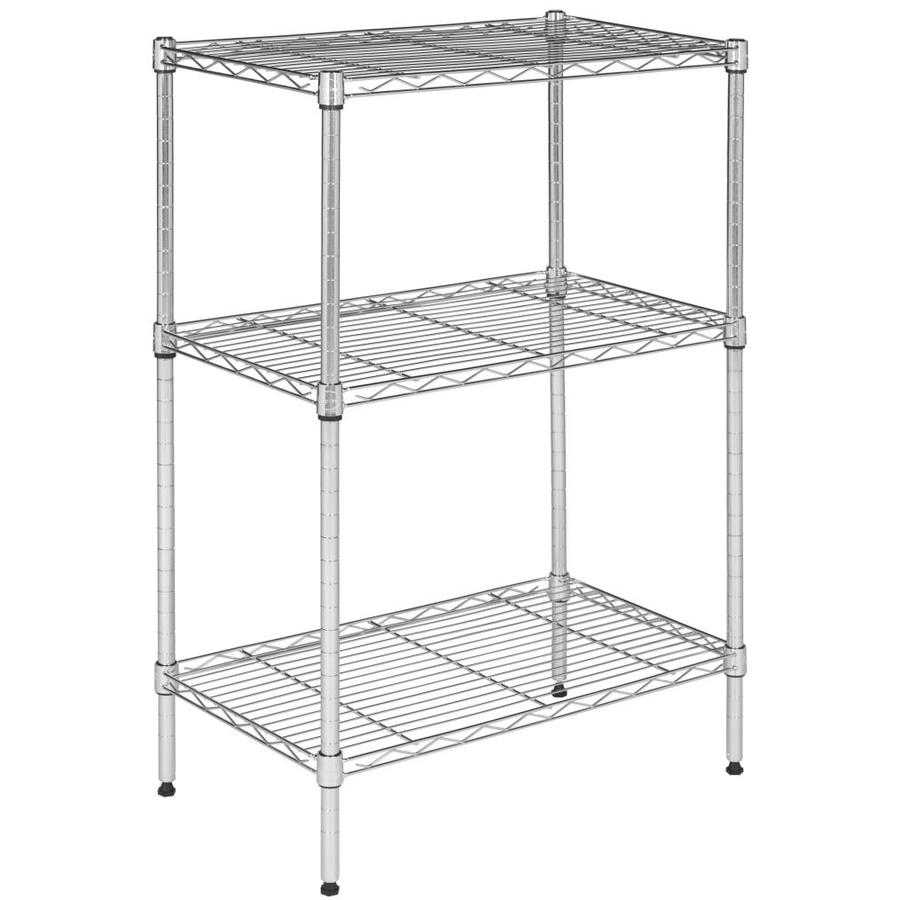 Safavieh 35-in H x 23.2-in W x 13.3-in D Wire Freestanding Shelving Unit