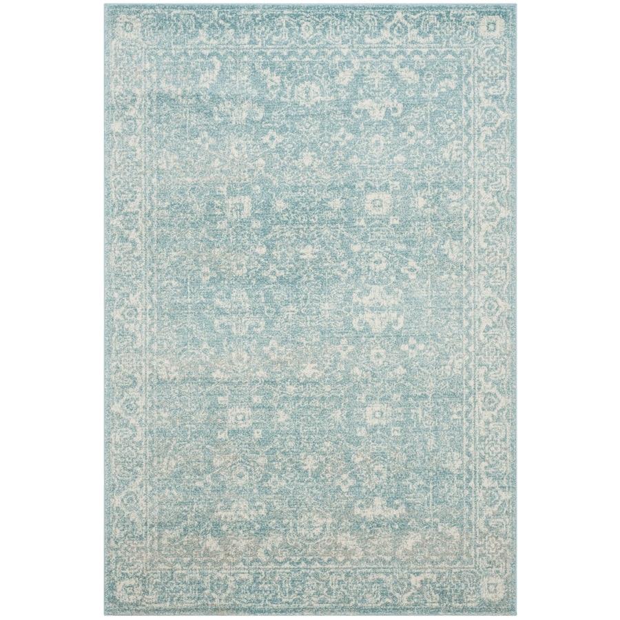 Safavieh Evoke Likoma Light Blue/Ivory Indoor Oriental Area Rug (Common: 5 x 8; Actual: 5.1-ft W x 7.5-ft L)