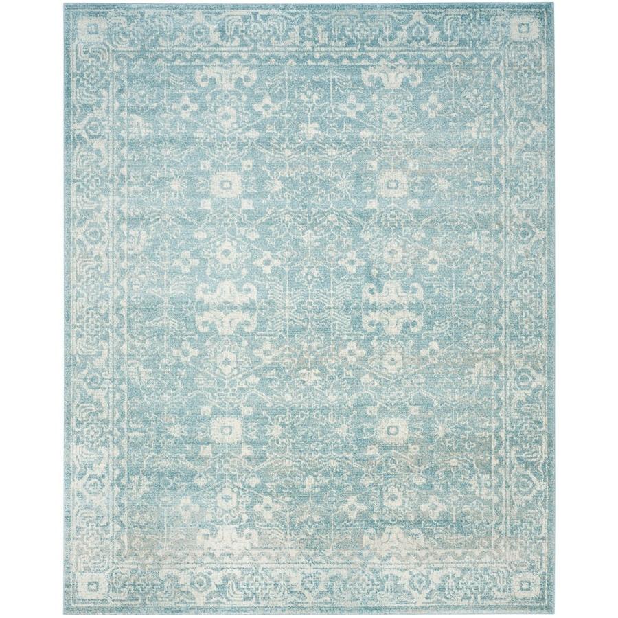 Safavieh Evoke Likoma Light Blue/Ivory Indoor Oriental Area Rug (Common: 7 x 9; Actual: 6.7-ft W x 9-ft L)