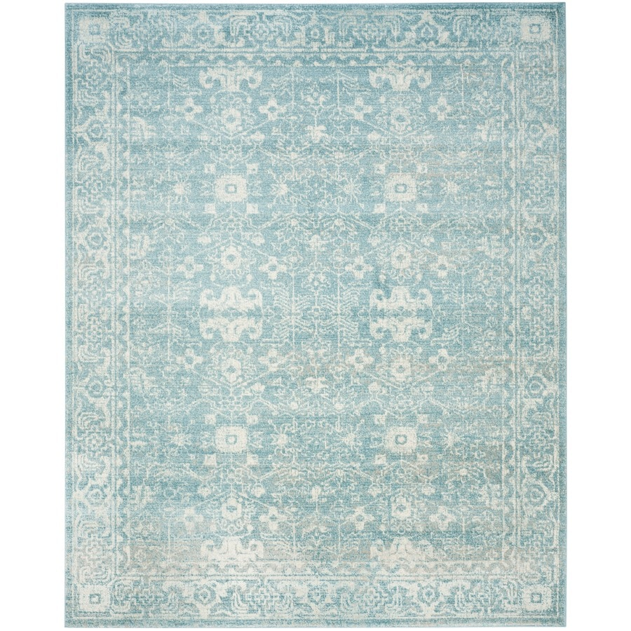Safavieh Evoke Likoma Light Blue/Ivory Indoor Oriental Area Rug (Common: 8 x 10; Actual: 8-ft W x 10-ft L)