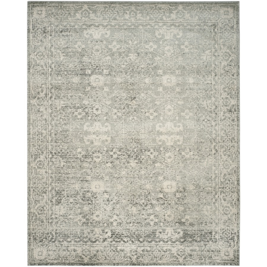 Safavieh Evoke Likoma Silver/Ivory Indoor Oriental Area Rug (Common: 10 x 14; Actual: 10-ft W x 14-ft L)
