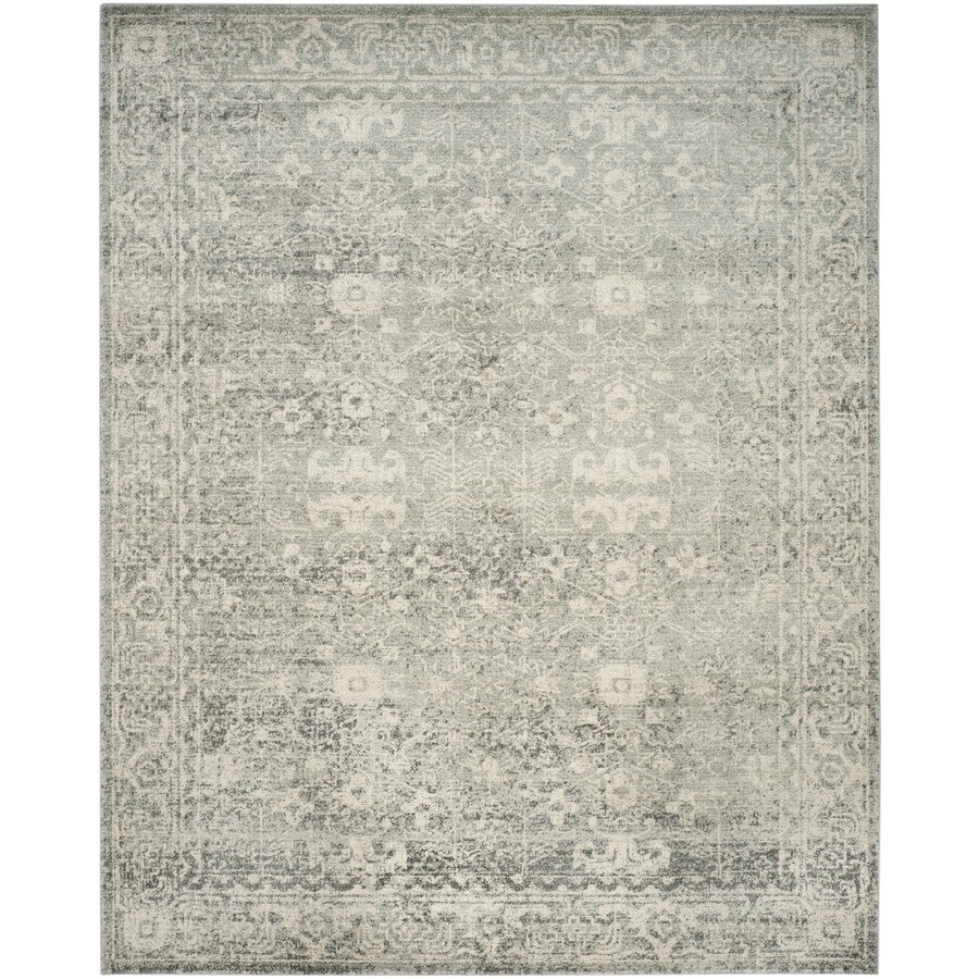 Safavieh Evoke Likoma Silver/Ivory Rectangular Indoor Machine-Made Oriental Area Rug (Common: 6 x 9; Actual: 6.6-ft W x 9-ft L)