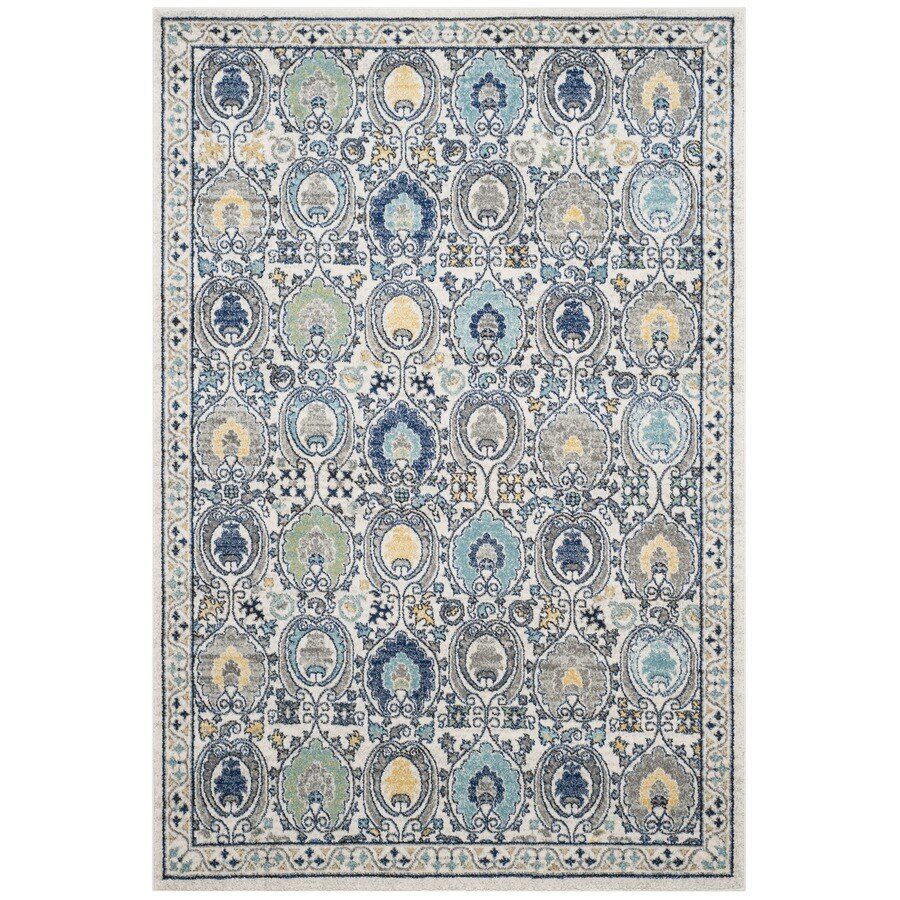 Safavieh Evoke Malaga Ivory/Gray Rectangular Indoor Machine-Made Oriental Area Rug (Common: 4 x 6; Actual: 4-ft W x 6-ft L)