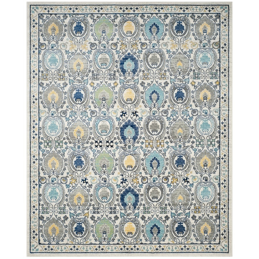Safavieh Evoke Malaga Ivory/Gray Rectangular Indoor Machine-Made Oriental Area Rug (Common: 8 x 10; Actual: 8-ft W x 10-ft L)
