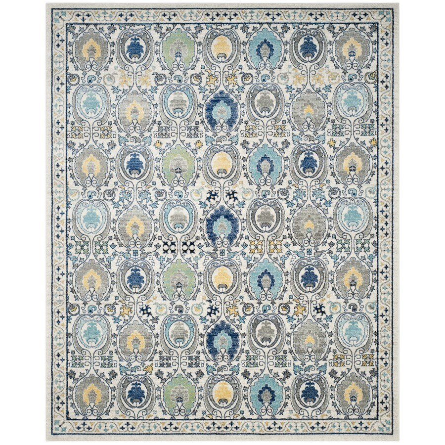 Safavieh Evoke Malaga Ivory/Gray Indoor Oriental Area Rug (Common: 9 x 12; Actual: 9-ft W x 12-ft L)