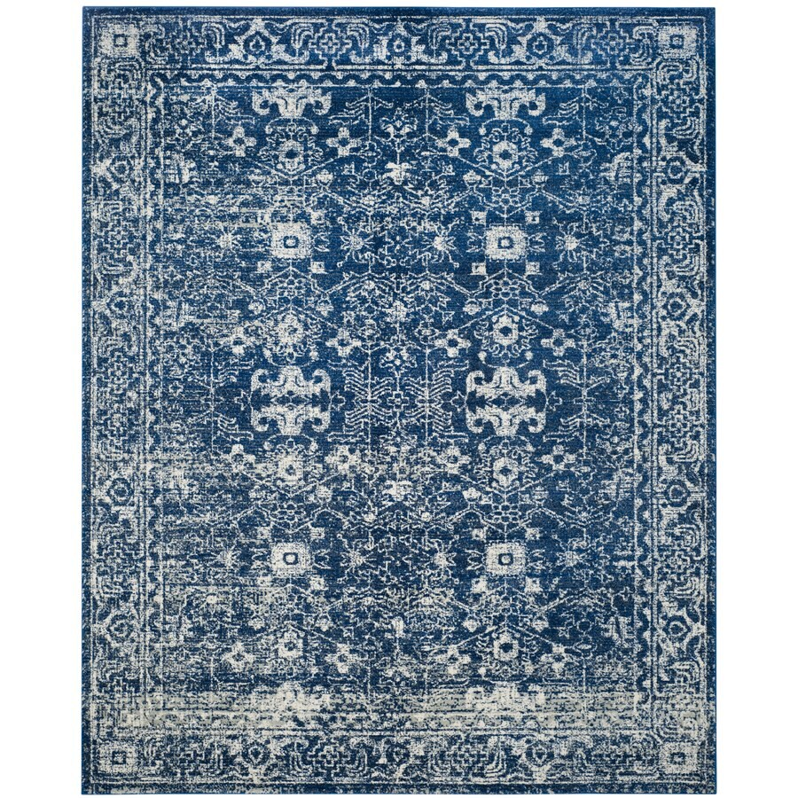 Safavieh Evoke Likoma Navy/Ivory Indoor Oriental Area Rug (Common: 8 x 10; Actual: 8-ft W x 10-ft L)