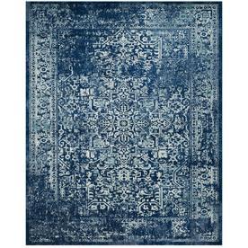 Safavieh Evoke Isla Navy/Ivory Indoor Oriental Area Rug (Common: 9 x 12; Actual: 9-ft W x 12-ft L)