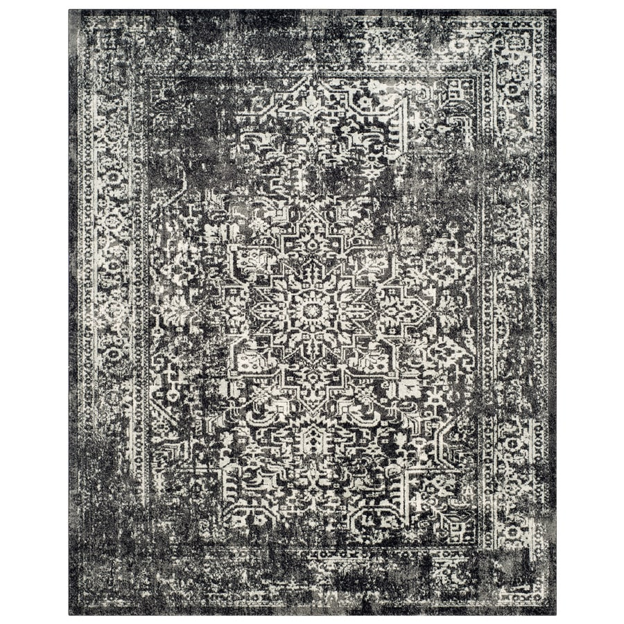 Shop Safavieh Evoke Isla Black Gray Indoor Oriental Area