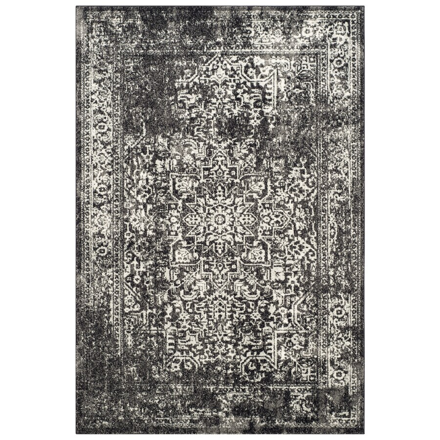 Safavieh Evoke Isla Black/Gray Rectangular Indoor Machine-Made Oriental Area Rug (Common: 5 x 7; Actual: 5.1-ft W x 7.5-ft L)