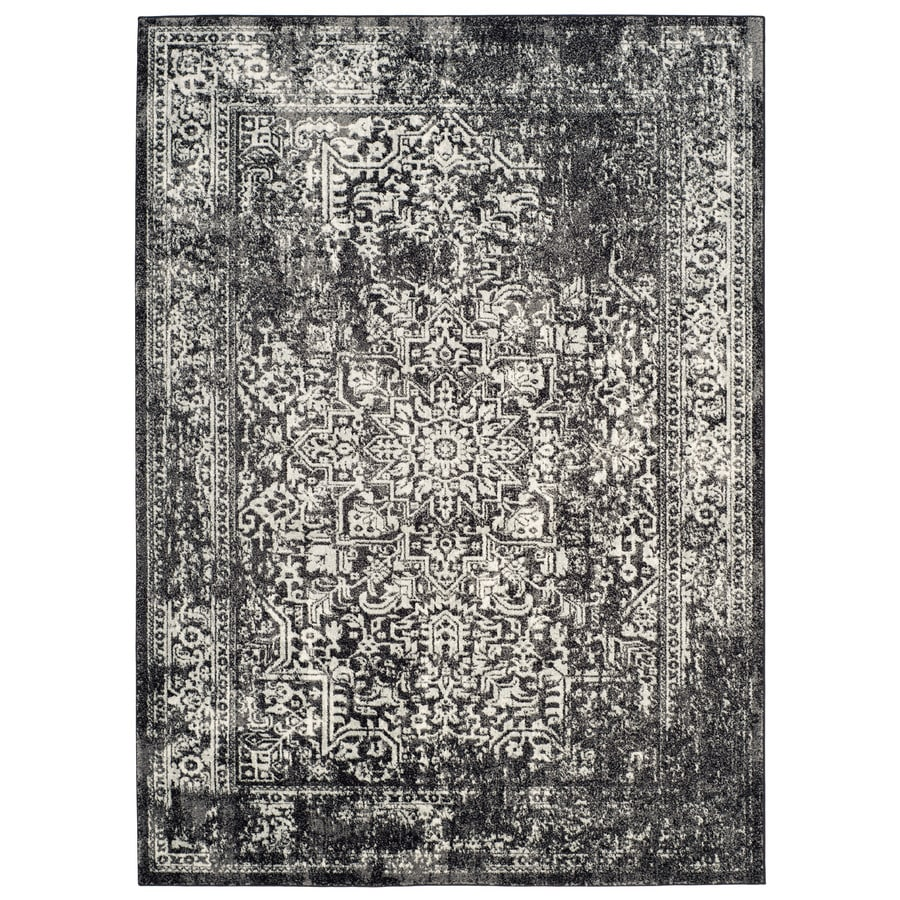 Safavieh Evoke Isla Black/Gray Indoor Oriental Area Rug (Common: 7 x 9; Actual: 6.7-ft W x 9-ft L)