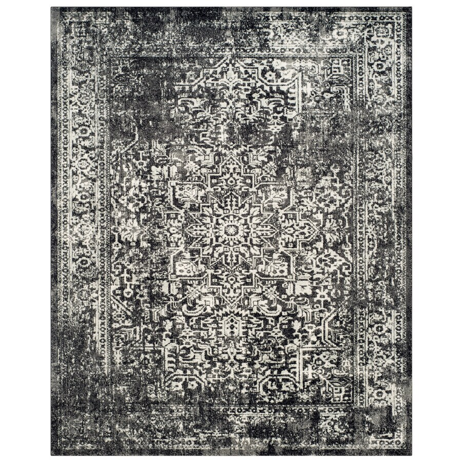 Safavieh Evoke Isla Black/Gray Rectangular Indoor Machine-Made Oriental Area Rug (Common: 8 x 10; Actual: 8-ft W x 10-ft L)