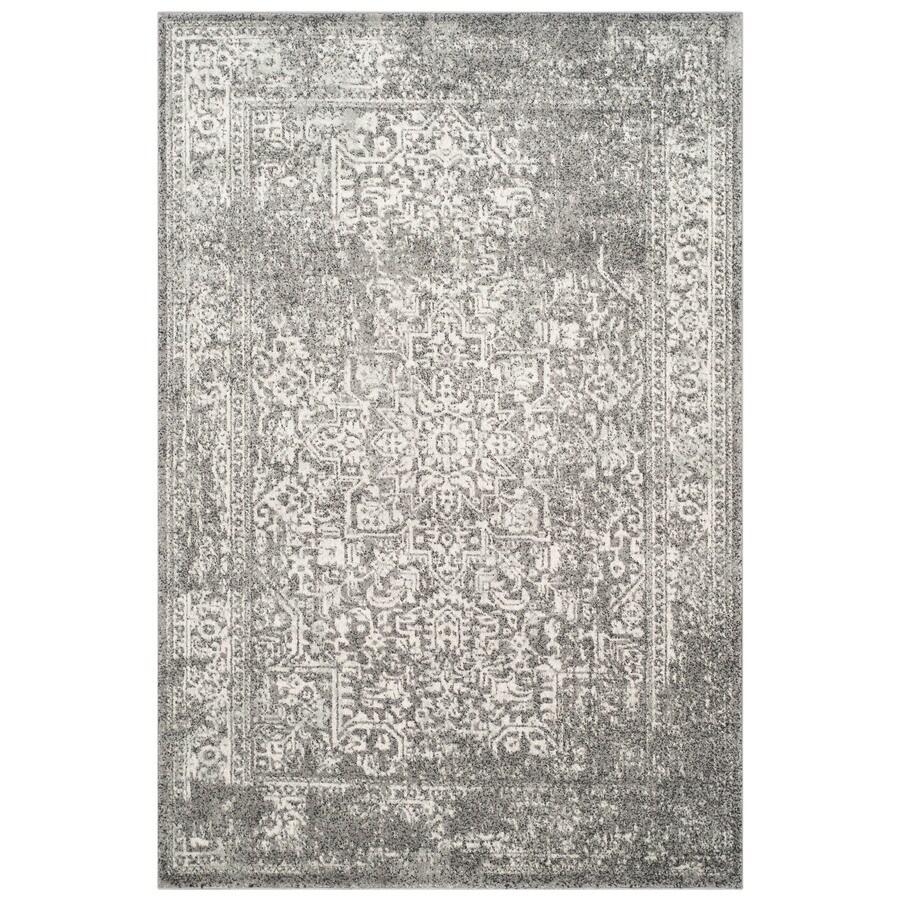 Safavieh Evoke Isla Gray/Ivory Rectangular Indoor Machine-Made Oriental Area Rug (Common: 4 x 6; Actual: 4-ft W x 6-ft L)