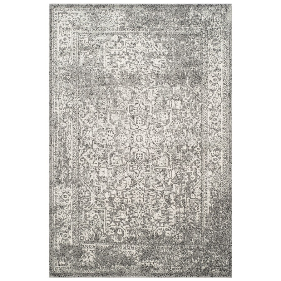 Safavieh Evoke Isla Gray/Ivory Indoor Oriental Area Rug (Common: 7 x 9; Actual: 6.7-ft W x 9-ft L)