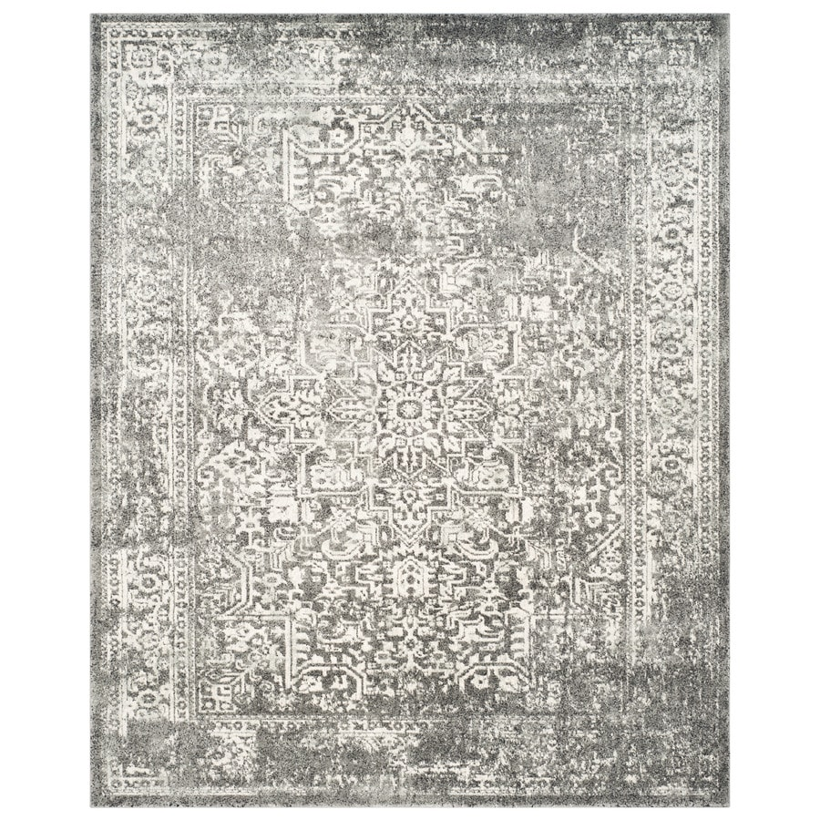Safavieh Evoke Isla Gray/Ivory Indoor Oriental Area Rug (Common: 8 x 10; Actual: 8-ft W x 10-ft L)