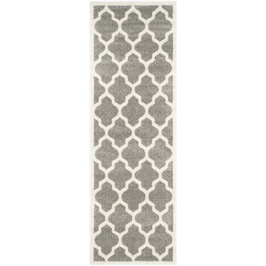 Safavieh Amherst Barret Dark Gray/Beige Indoor/Outdoor Moroccan Runner (Common: 2 x 13; Actual: 2.3-ft W x 13-ft L)