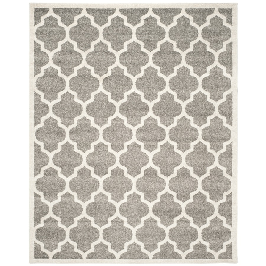 Safavieh Amherst Dark Gray/Beige Rectangular Indoor/Outdoor Machine-Made Moroccan Area Rug (Common: 12 x 15; Actual: 12-ft W x 18-ft L)