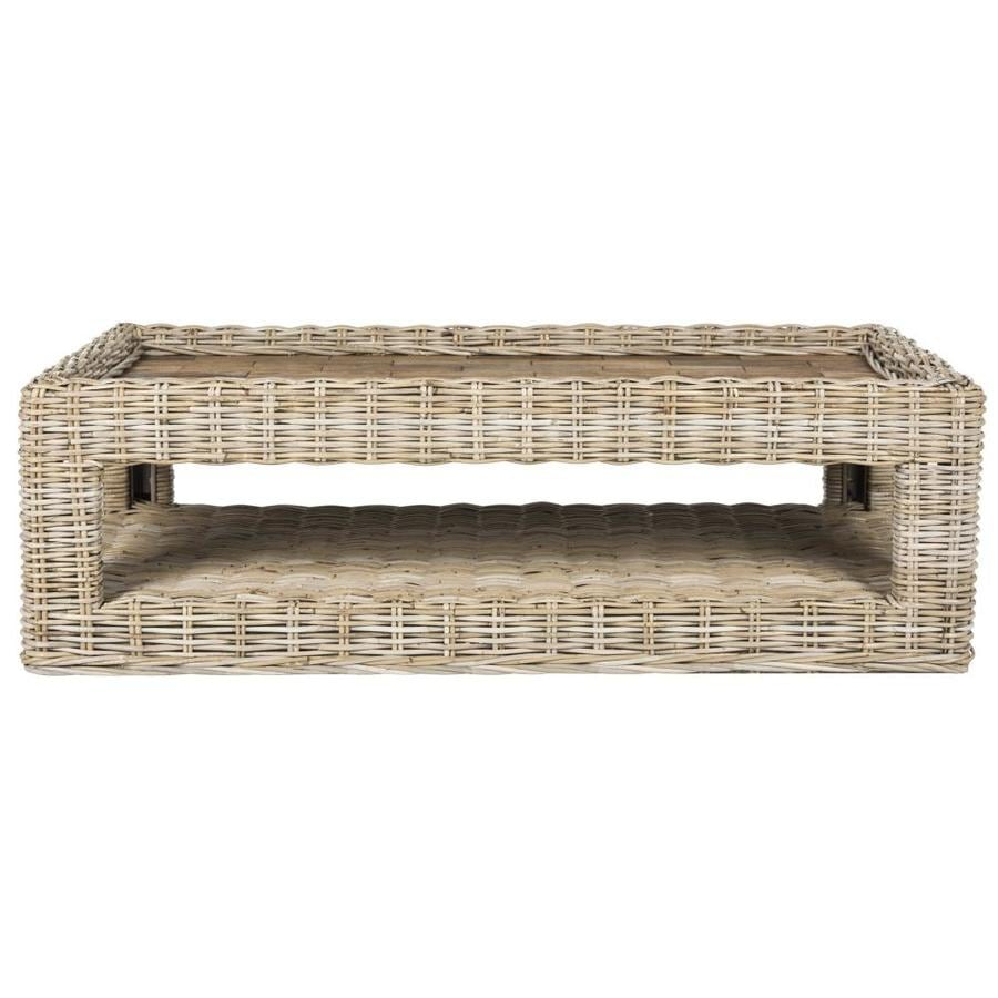 Lowes Wicker Coffee Table: Safavieh Maple Wicker Coffee Table At Lowes.com