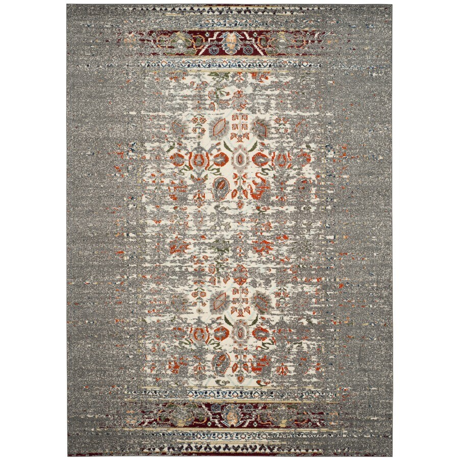 Safavieh Monaco Winfrid Gray/Ivory Rectangular Indoor  Distressed Area Rug (Common: 5 x 8; Actual: 5.1-ft W x 7.6-ft L)