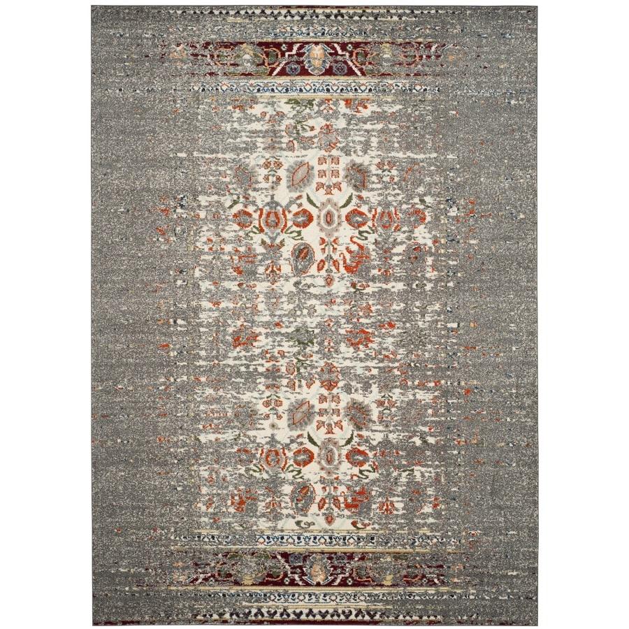 Safavieh Monaco Winfrid Gray/Ivory Indoor Distressed Area Rug (Common: 8 x 11; Actual: 8-ft W x 11-ft L)