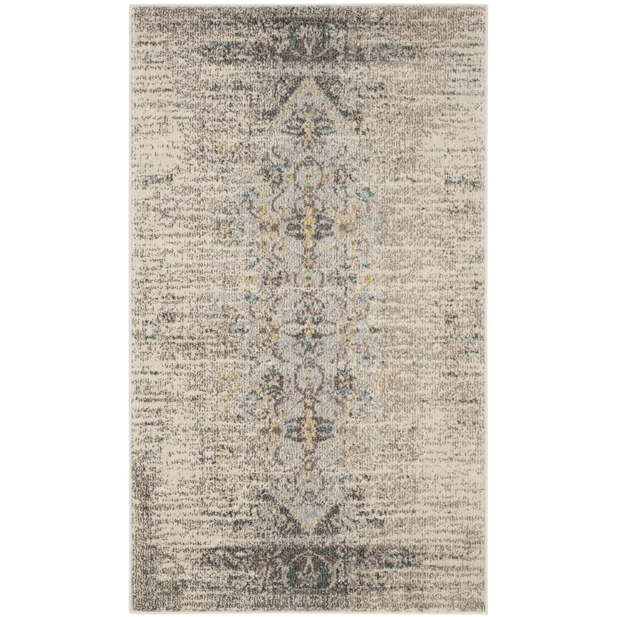Safavieh Monaco Kimberly Gray/Multi Rectangular Indoor Machine-made Distressed Throw Rug (Common: 3 x 5; Actual: 3-ft W x 5-ft L)