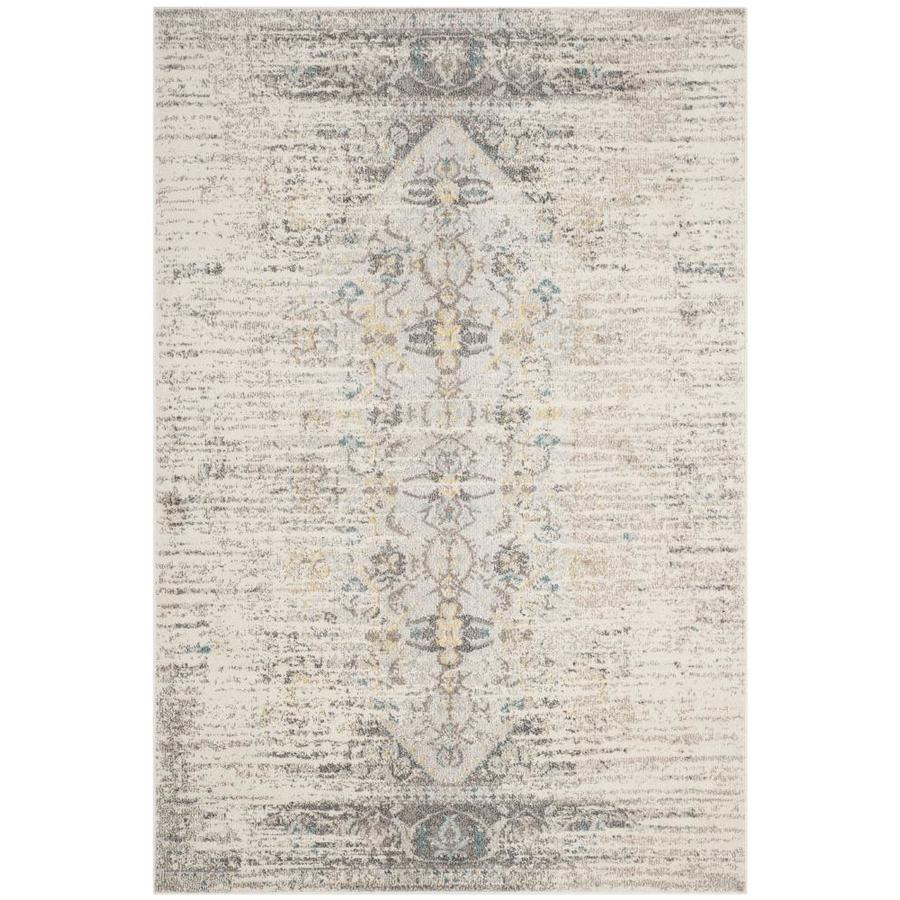 Safavieh Monaco Kimberly Gray Indoor Distressed Area Rug (Common: 4 x 6; Actual: 4-ft W x 5.6-ft L)