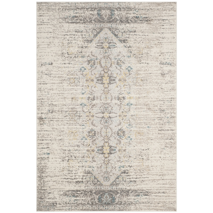 Safavieh Monaco Kimberly Gray Rectangular Indoor  Distressed Area Rug (Common: 5 x 8; Actual: 5.1-ft W x 7.6-ft L)