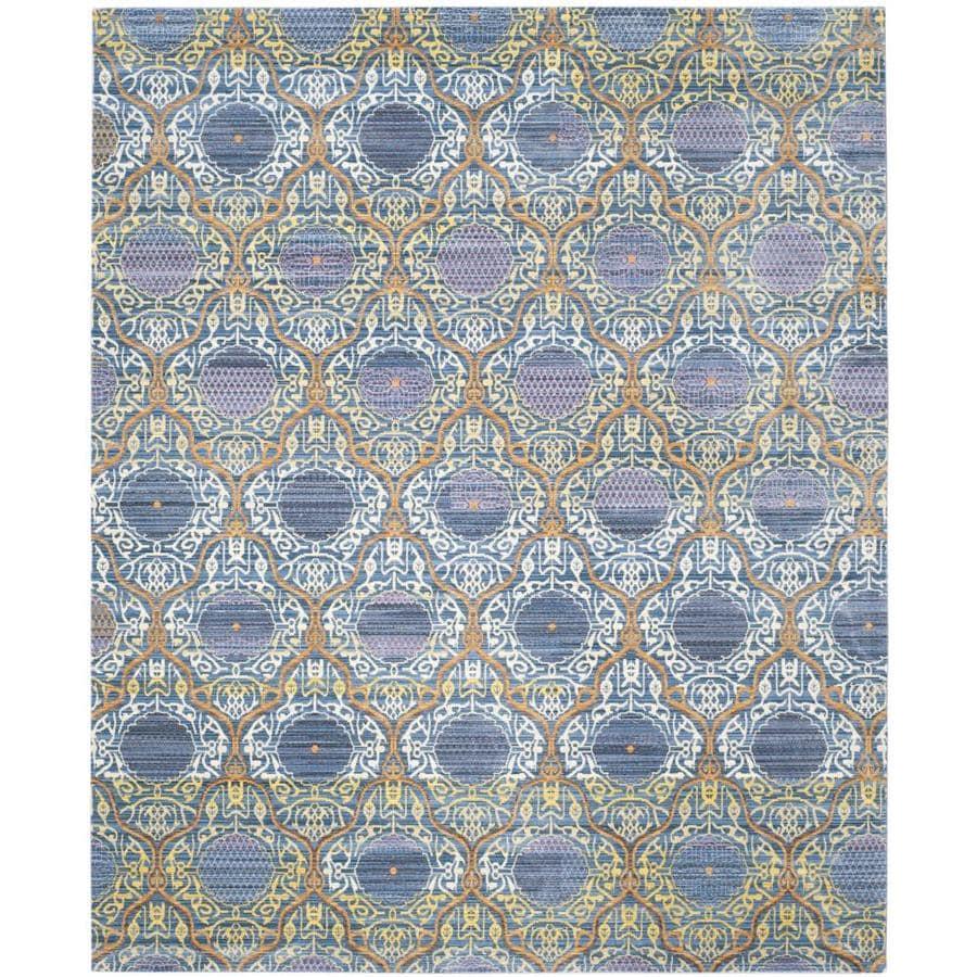 Safavieh Valencia Griffin Lavender/Gold Rectangular Indoor Machine-made Distressed Area Rug (Common: 6 x 9; Actual: 6-ft W x 9-ft L)