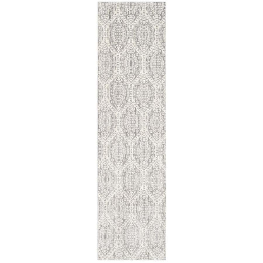 Safavieh Valencia Mauve/Cream Rectangular Indoor Machine-Made Distressed Runner (Common: 2.3 x 10; Actual: 2.25-ft W x 10-ft L)