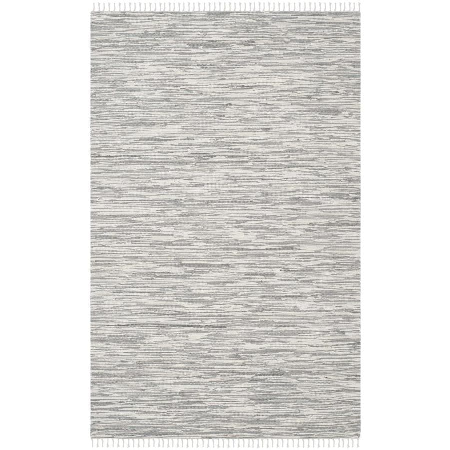 Safavieh Montauk Caspar Silver Rectangular Indoor Handcrafted Coastal Area Rug (Common: 10 x 14; Actual: 10-ft W x 14-ft L)