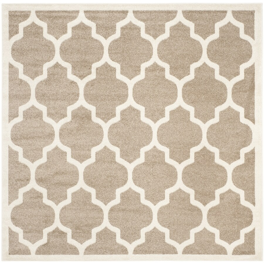 Safavieh Amherst Barret Wheat/Beige Square Indoor/Outdoor Moroccan Area Rug (Common: 9 x 9; Actual: 9-ft W x 9-ft L)