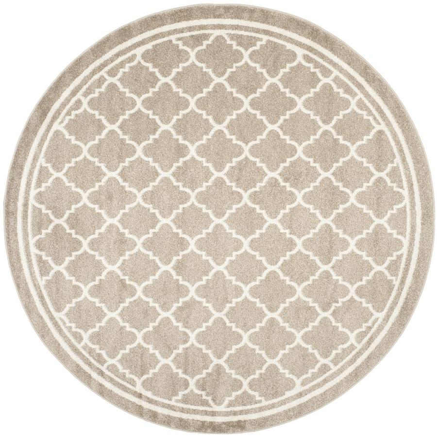 Safavieh Kelly Wheat Beige Round Indoor Outdoor Area Rug Common 9