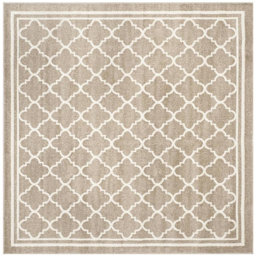 Safavieh Kelly Wheat/Beige Square Indoor/Outdoor Area Rug (Common: 9 x 9; Actual: 9-ft W x 9-ft L)