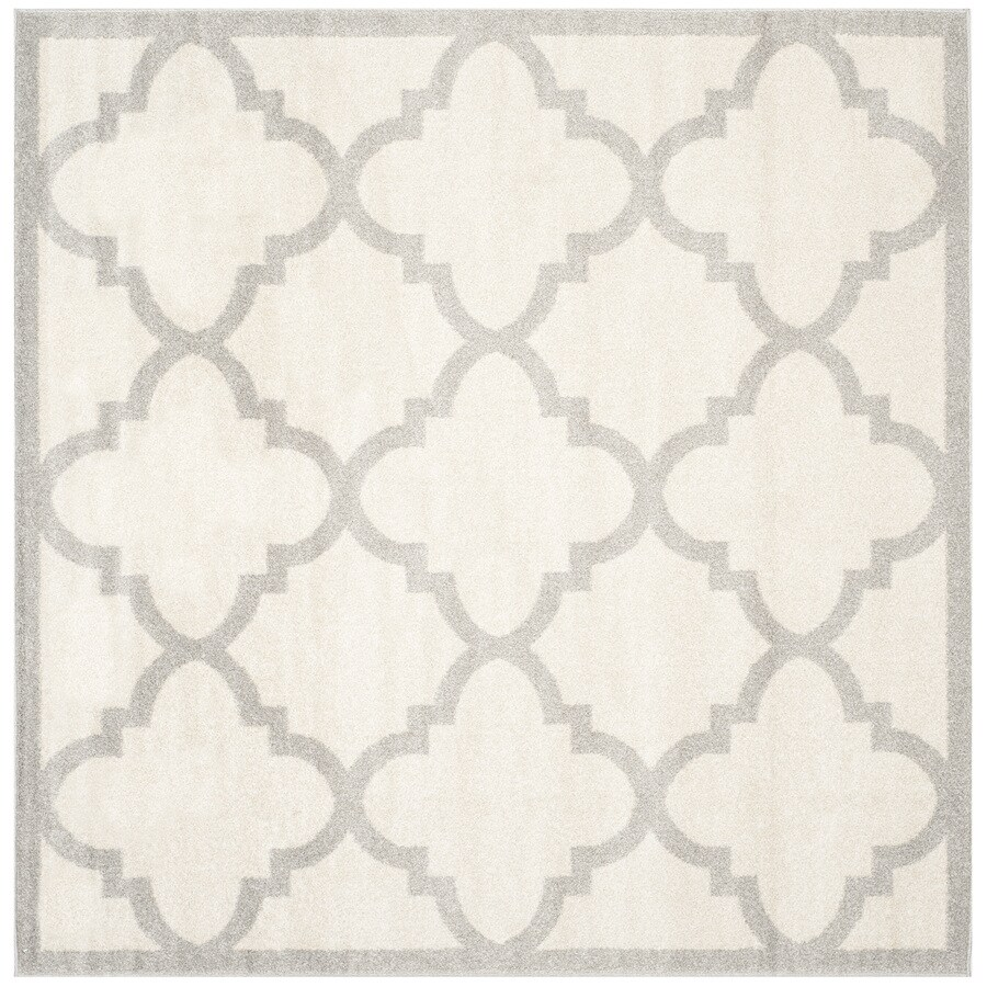 Safavieh Amherst Beige/Light Grey Square Indoor/Outdoor Machine-Made Area Rug