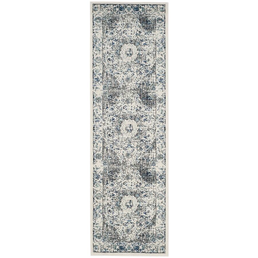 Safavieh Evoke Savoy Gray/Ivory Indoor Oriental Runner (Common: 2 x 11; Actual: 2.2-ft W x 11-ft L)