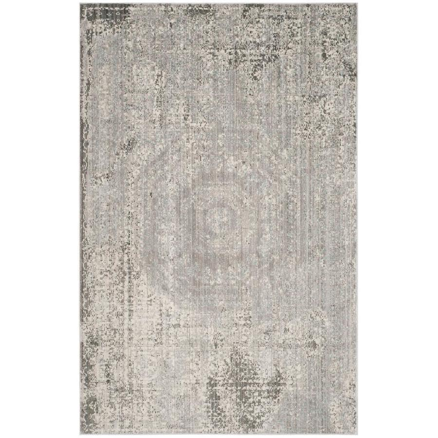 Safavieh Valencia Konye Gray Indoor Distressed Area Rug (Common: 4 x 6; Actual: 4-ft W x 6-ft L)