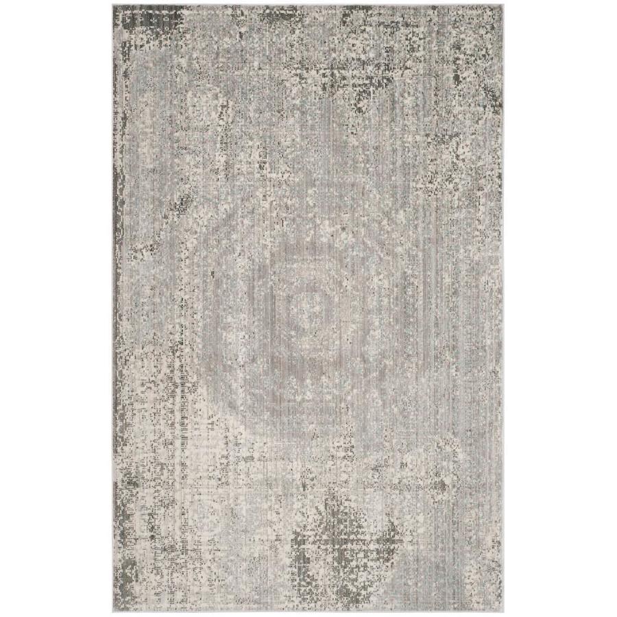 Safavieh Valencia Konye Gray Indoor Distressed Area Rug (Common: 5 x 8; Actual: 5-ft W x 8-ft L)