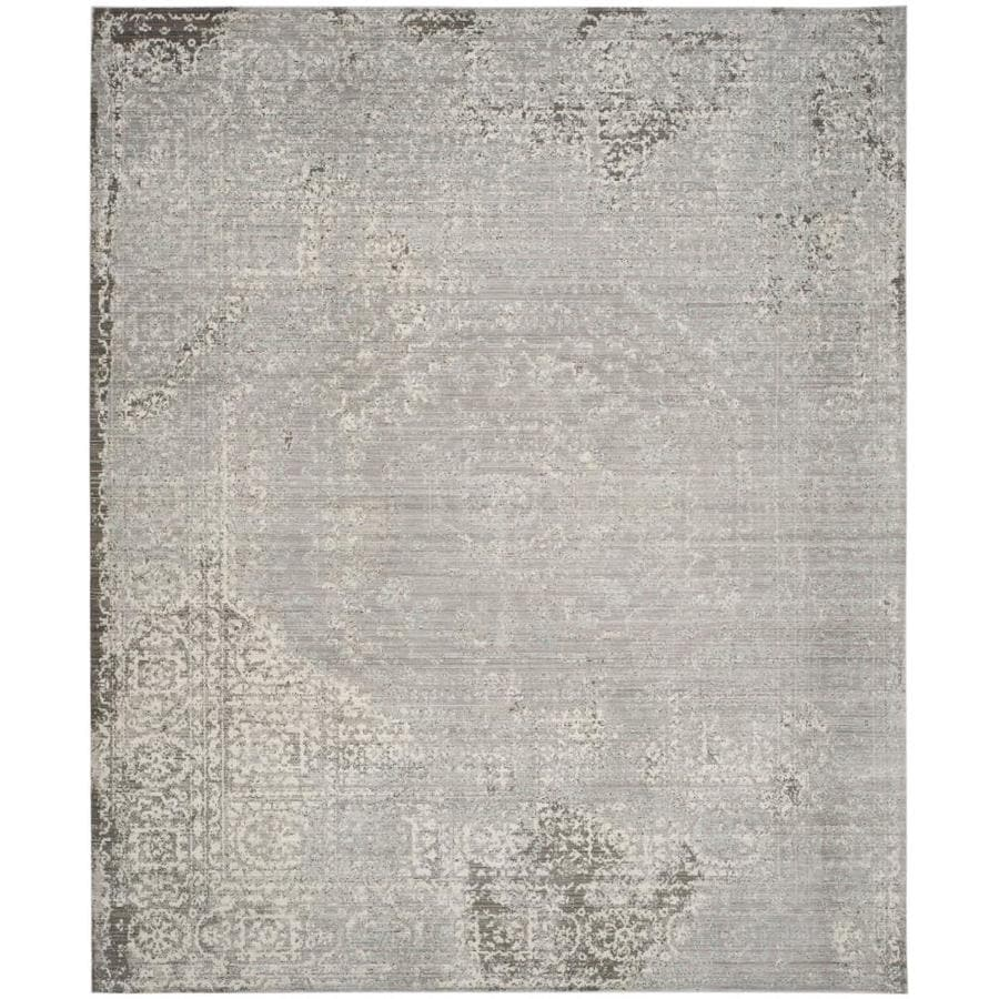Safavieh Valencia Konye Gray Rectangular Indoor Machine-Made Distressed Area Rug (Common: 8 x 10; Actual: 8-ft W x 10-ft L)