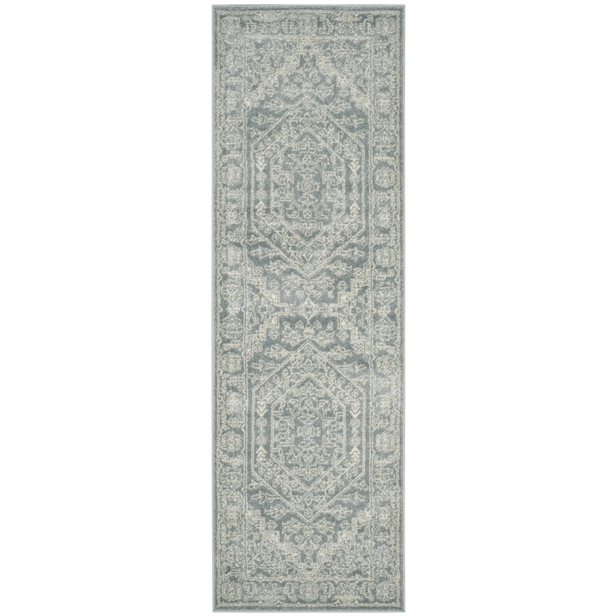 Safavieh Adirondack Herati Slate/Ivory Rectangular Indoor Machine-made Lodge Runner (Common: 3 x 8; Actual: 2.5-ft W x 8-ft)