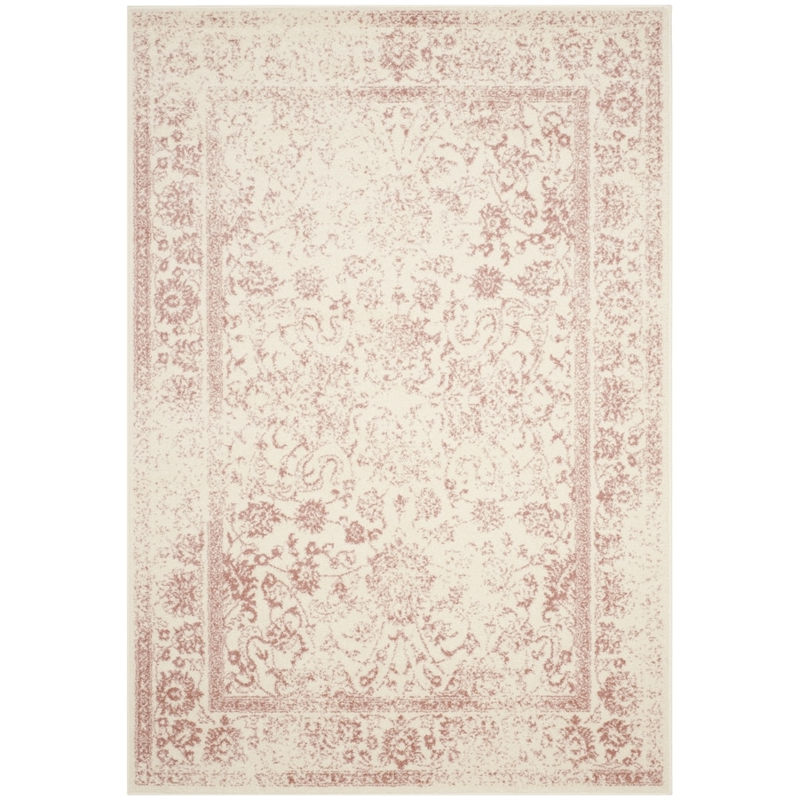 Safavieh Adirondack Kashan Ivory/Rose Indoor Lodge Area Rug (Common: 4 x 6; Actual: 4-ft W x 6-ft L)