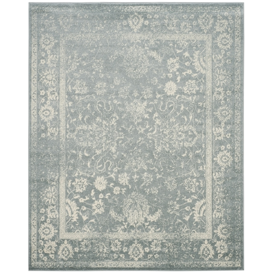Safavieh Adirondack Kashan Slate/Ivory Rectangular Indoor Machine-Made Lodge Area Rug (Common: 8 x 10; Actual: 8-ft W x 10-ft L)