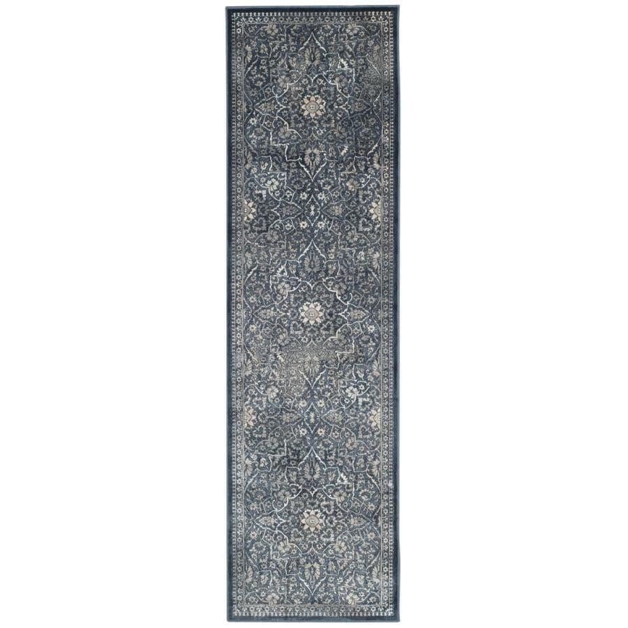 Safavieh Vintage Ardebil Blue/Light Gray Indoor Distressed Runner (Common: 2 x 8; Actual: 2.2-ft W x 8-ft L)