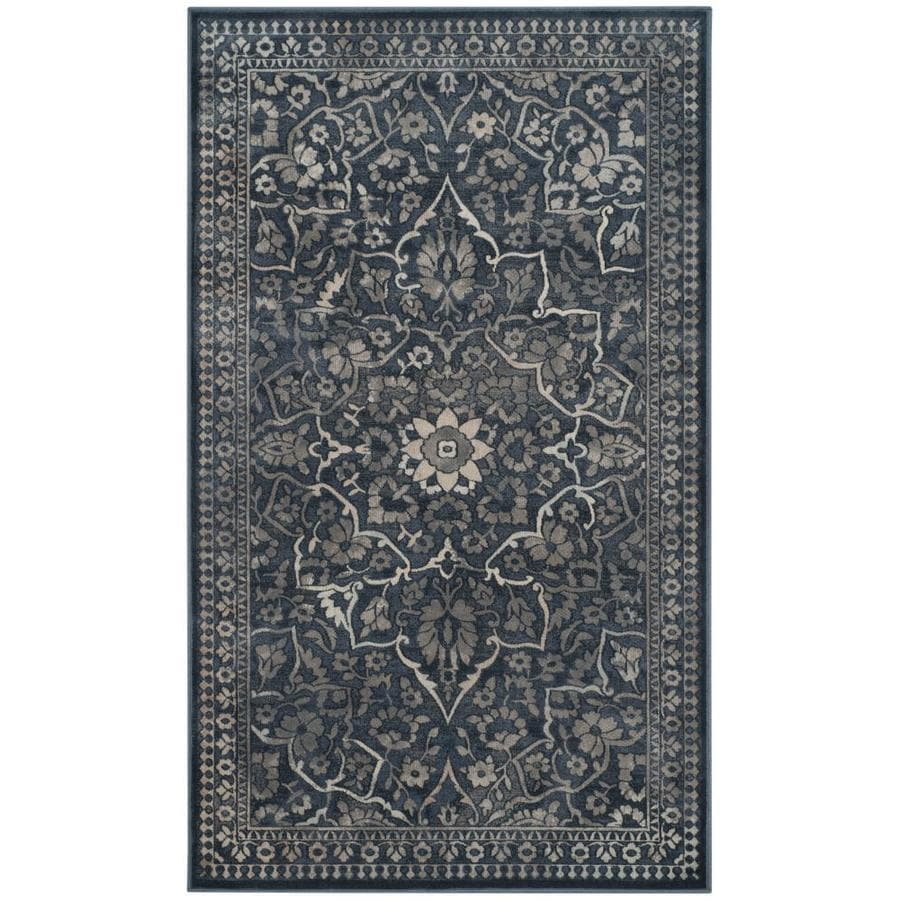 Safavieh Vintage Ardebil Blue/Light Gray Rectangular Indoor Machine-made Distressed Throw Rug (Common: 3 x 5; Actual: 3.25-ft W x 5.6-ft L)